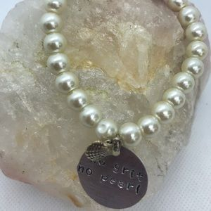 Jewelry - Handcrafted Ivory Hand Stamped Bracelet